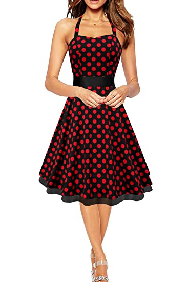 61cb3cd0318c58 BlackButterfly 'Rhya' Vintage Polka-Dots Kleid im 50er-Jahre-Stil ...