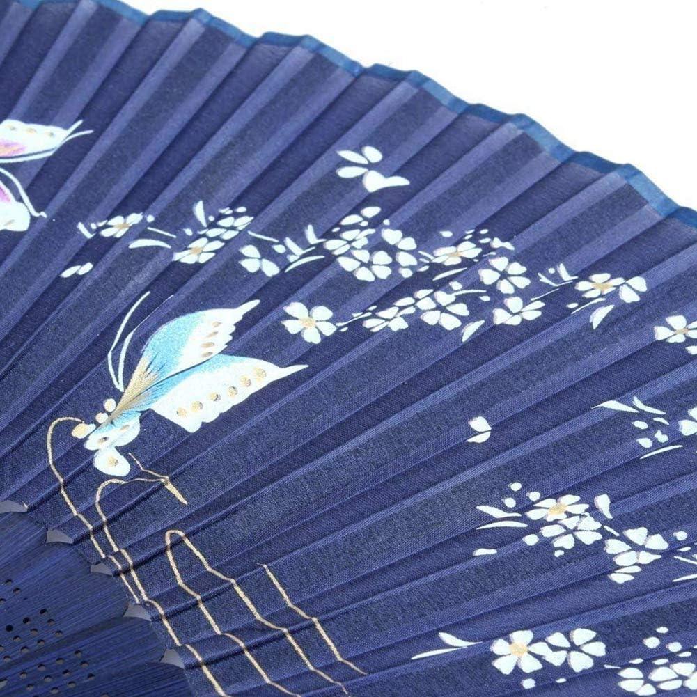 Ruiting Ventilateur Chinois,Eventail en Tissu Pliable pour D/écoration de Maison 1PCS