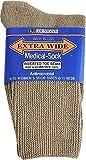 Women's Extra Wide Socks-Tan/6-11