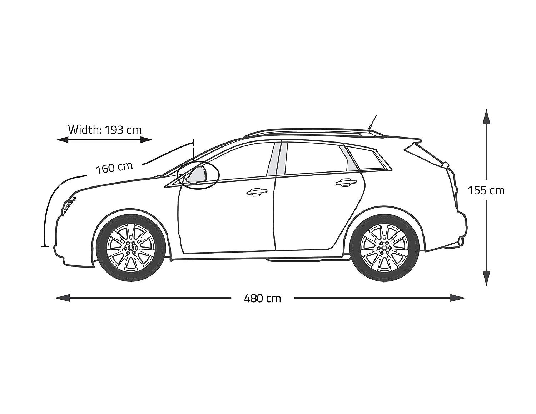 Universelle Passform Staub // UV fest Vollgarage mit Baumwoll-Innenfutter f/ür SUV wasserdicht kratzfest M 439*188*147 cm langlebige Auto Abdeckung