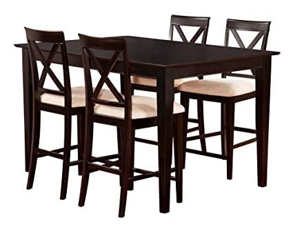 Atlantic Furniture Shaker Pub Set, 36 X 48 Inch, Espresso