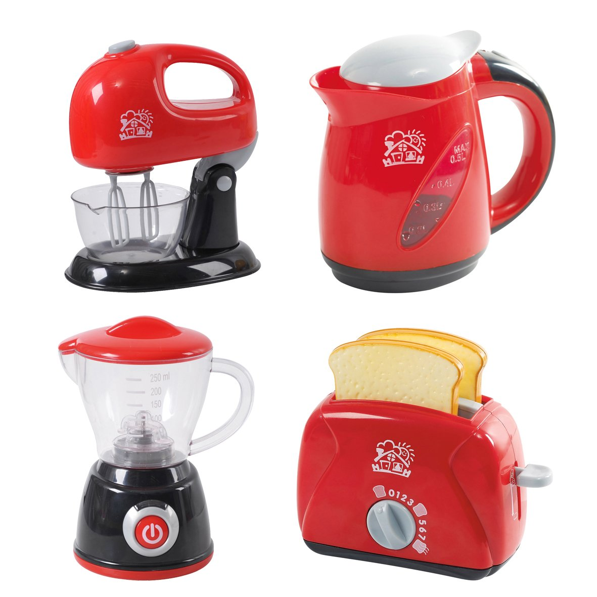 PlayGo Kitchen Chef Collection (My Toaster, Juice Maker, Kettle & Mixer) for Your Little Chef   Pretend Play Home Kitchen Appliances 4Piece Play Set for Kids Children Toddlers