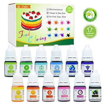 Amazon.com : Food Coloring - 12 Color Bright Neon Cake Food Coloring ...