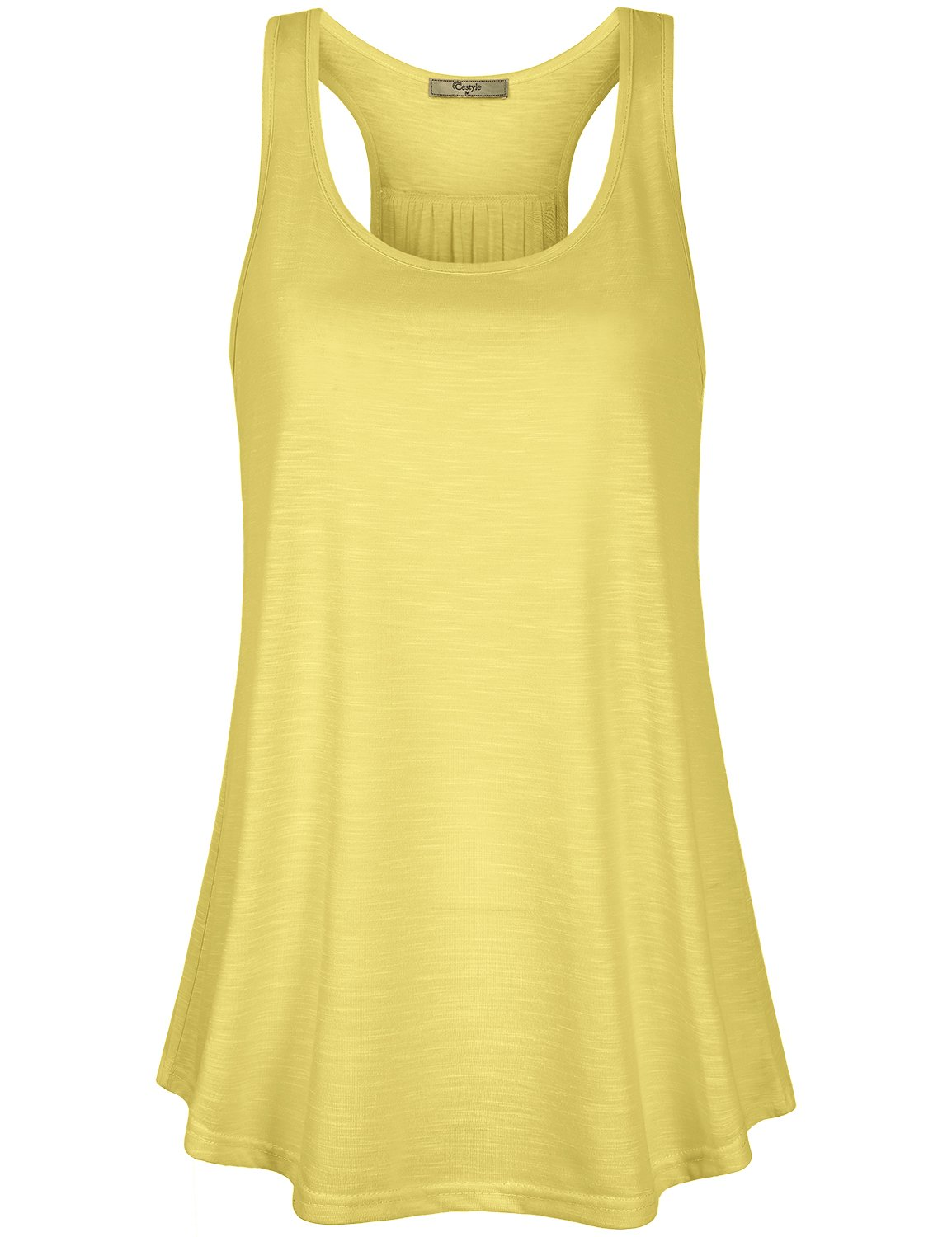 02d90f822f Cestyle Juniors Top,Teen Girls Summer Boutique Clothing Sleeveless Running  Tunic Tank Womens Knit Shirts and Blouses for Workout Yellow Small