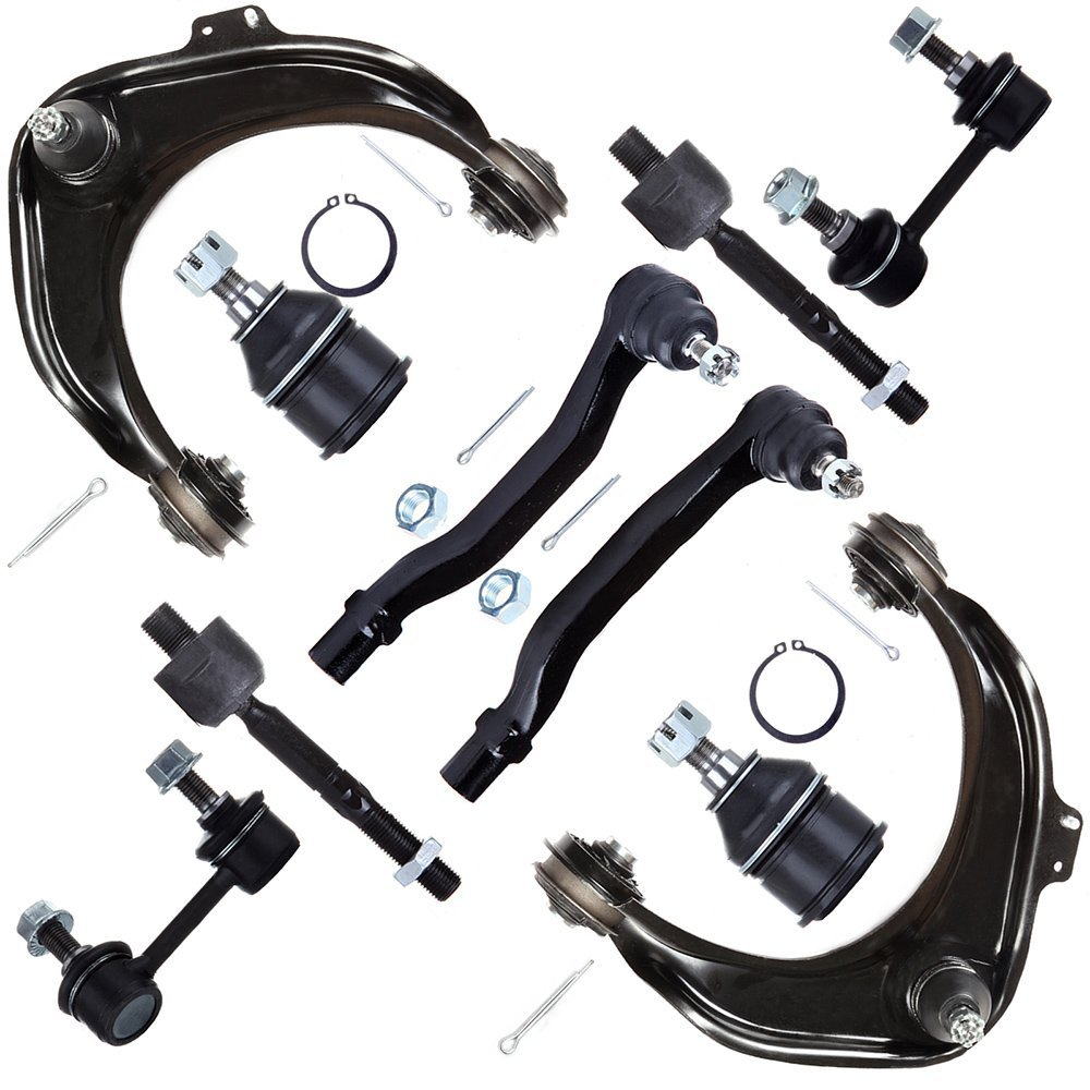 SCITOO 10pcs Suspension Kit 2 Upper Control Arm And Ball Joint 2 Sway Bar 2 Lower Ball Joint 4 Tie Rod End fit 2001-2003 Acura CL 1999-2003 Acura TL 2001-2002 Honda Accord K620284 K620285