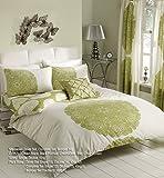 Goldstar® Manhattan Cream Green Double Size Duvet Cover Bedding Set