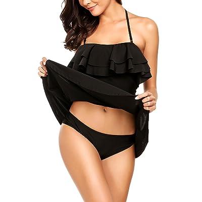 Avidlove Women's Vintage Tankini Swimsuit One Piece Tummy Control Swimdress S-XXL