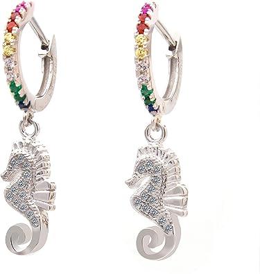 925 Silver Fashion Jewelry Boucles D/'oreille Multicolore Cristal Femme Cadeau