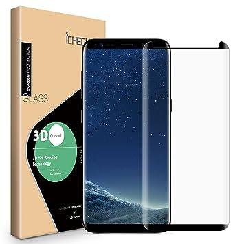 ICHECKEY Galaxy S8 Cristal Protector de Pantalla [Case-Friendly], Alta definición Ultra