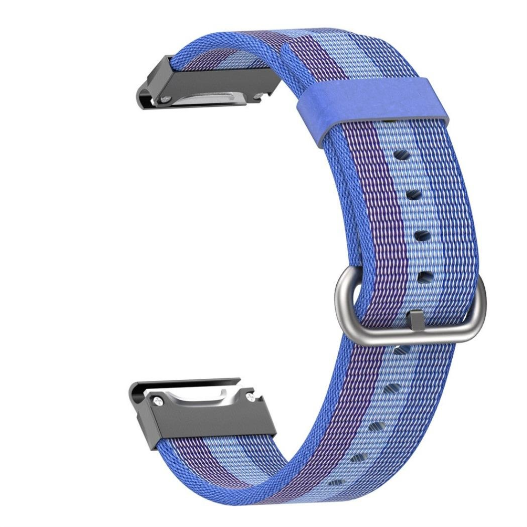YRD Tech Easy Fit 22mm Nylon Strap Replacement Quick Release Band Wristband Bracelet for Garmin Approach S60 (Blue , 22mm)
