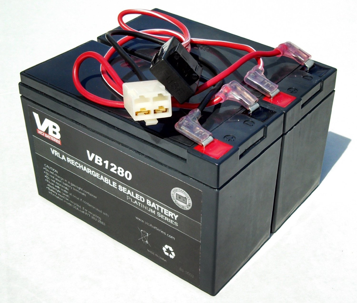 Razor 12 Volt 7Ah Electric Scooter Batteries High Performance - Set of 2 Includes New Wiring Harness by Razor replacement - VICI