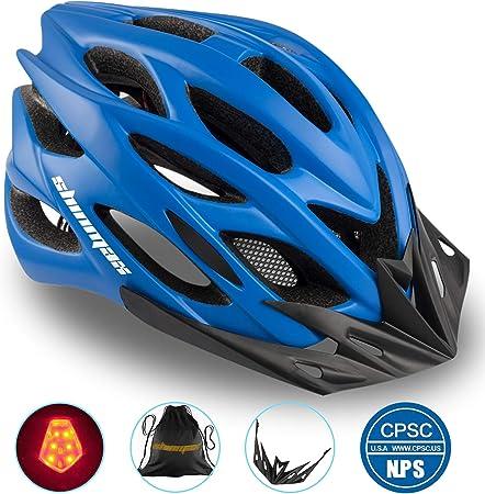 Shinmax Casco Bicicleta con Visera, Protección de Seguridad Ajustable Deporte Ligera para Montar en Bicicleta Casco de Bicicleta BMX Scooter Skate ...