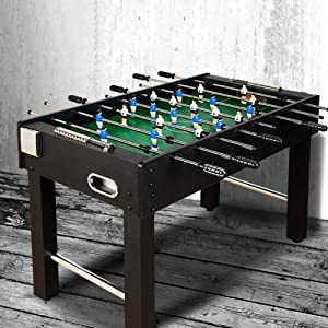 softneco 47 Inch Heavy Duty Foosball Table,Steady Football Table with Drink Holder,Realistic Feel Tabletop Soccer Game for Kids and Adult