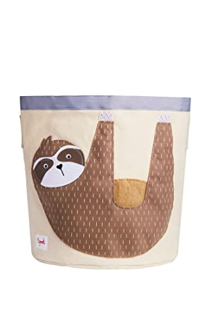 Amazon Com 3 Sprouts Canvas Storage Bin Laundry And Toy Basket For Baby And Kids Sloth Baby
