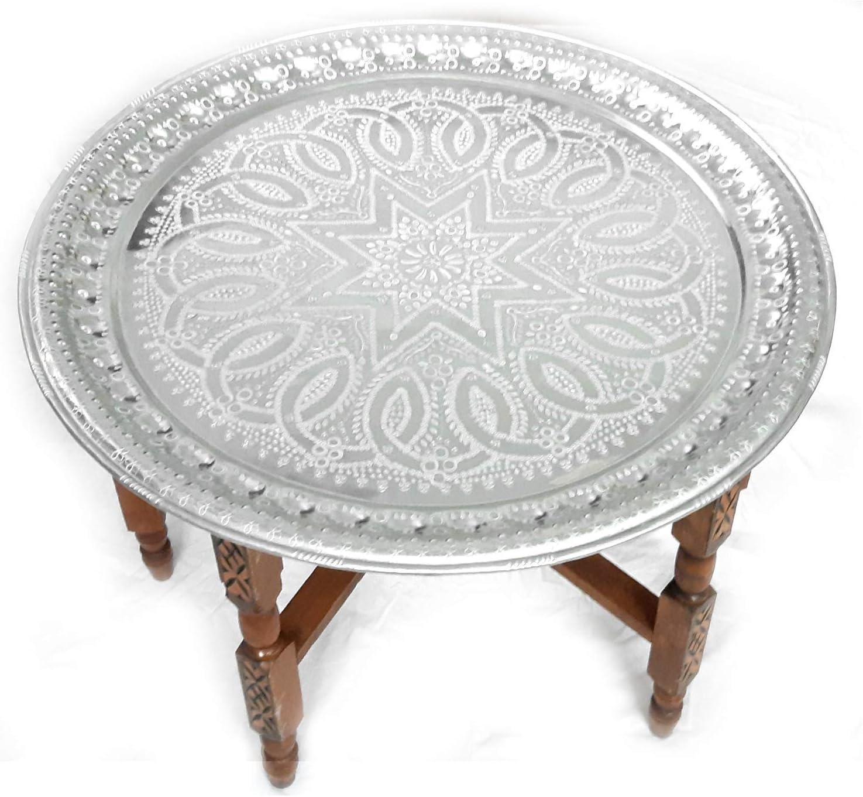 LORIENT Interior - Mesa de té marroquí (76 cm de diámetro ...