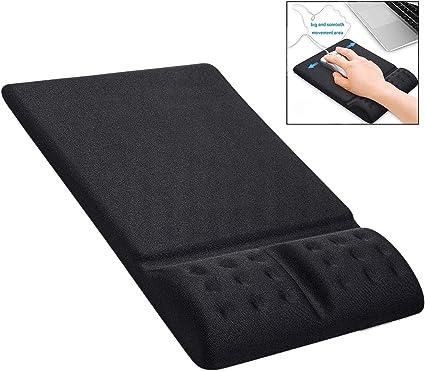 MEMORY Foam antiscivolo Mouse Pad con Supporto Polso Riposo Tappetino per computer pc portatile
