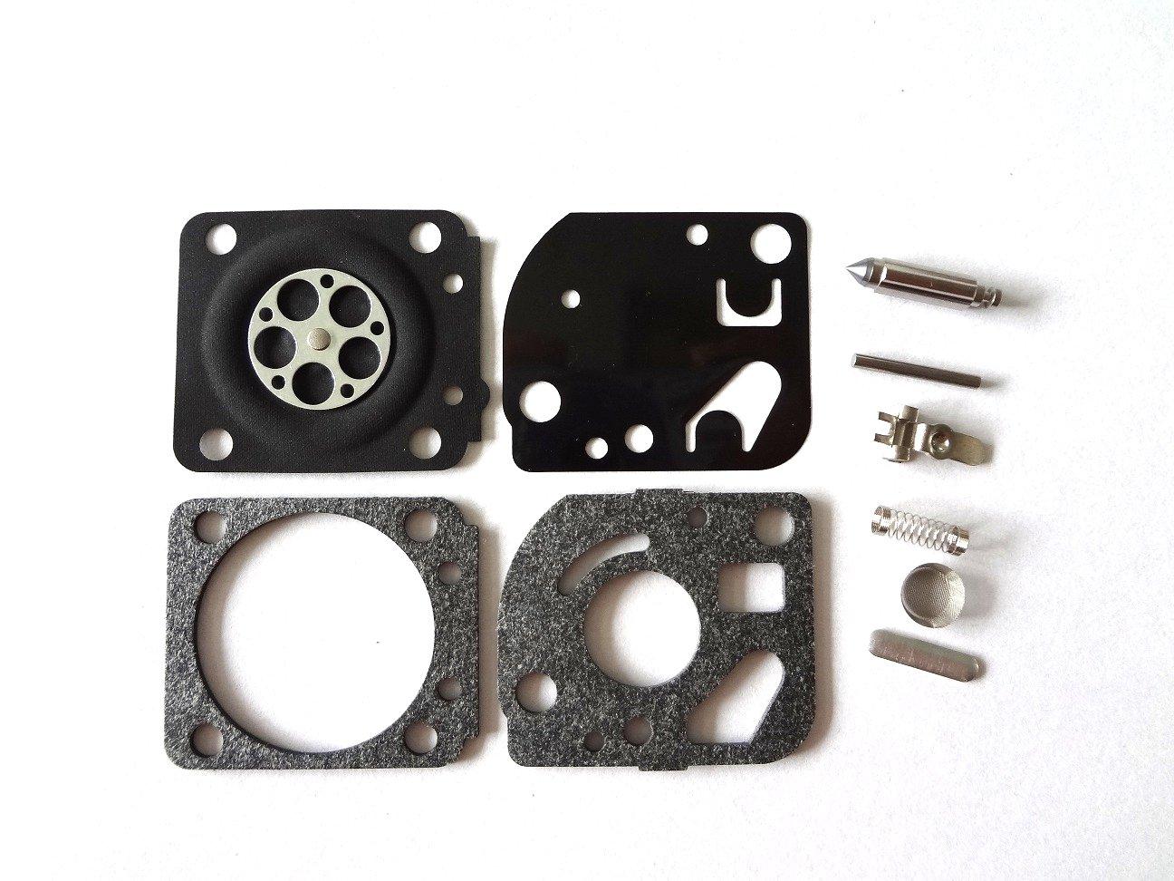 Carburateur r/éparation//Rebuild kit Remplace Zama Rb-71/pour Echo Tc2100/Sv-4/Srm-251/Gt-251/tondeuse