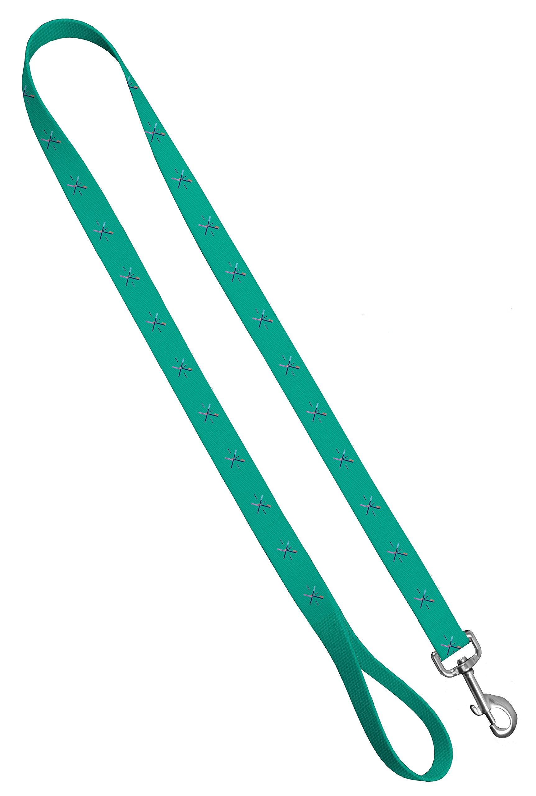 Moose Pet Wear Deluxe Dog Leash - Patterned Heavy Duty Pet Leashes, Made in the USA - 1 Inch x 6 Feet, PDX Carpet