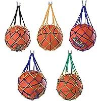 ysister 5 Piezas Bolso de Malla de Malla de fútbol, Bolso de Red de Fútbol, Bolso de Malla de Balones de Nailon…