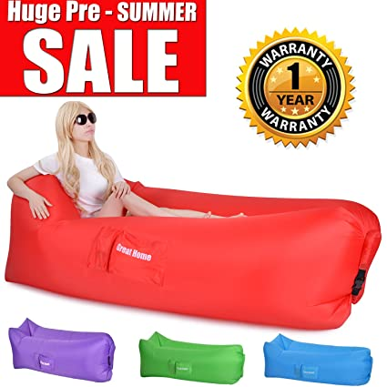 Inflatable Lounger, Air Lounger Lazy Lounger Great Home Air Lounge Laybag Holds Air Better Than Air Sack Lounger Hangout Bag Hangout Sofa