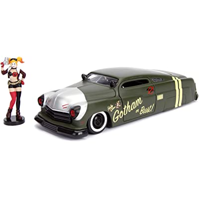 "Jada DC Comics Bombshells Harley Quinn & 1951 Mercury Die-cast Car, 1: 24 Scale Vehicle & 2.75"" Collectible Figurine 100% Metal: Toys & Games"