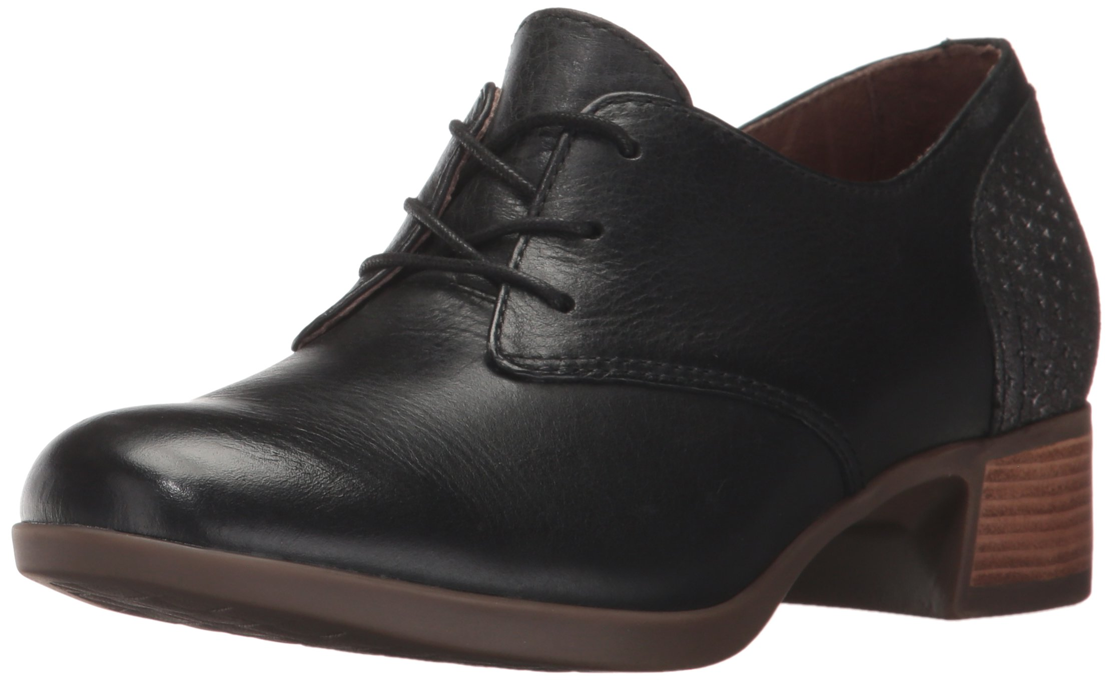 Dansko Women's Louise Oxford, Black Burnished Nappa, 38 EU/7.5-8 M US