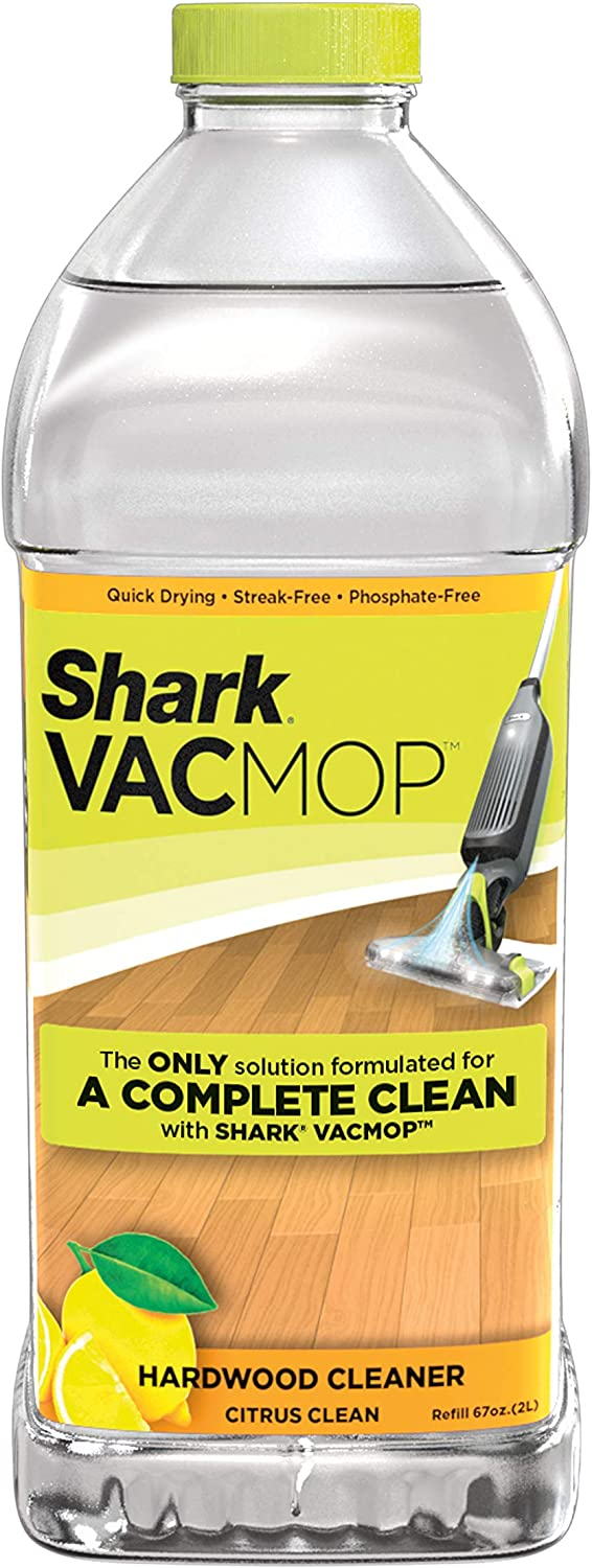 Shark VACMOP Hardwood Cleaner Refill 2 Liter Bottle, 2 Liters, Citrus Clean Scent VCW60, 2 Liters