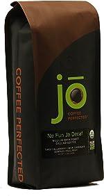 NO FUN JO DECAF: 12 oz, Organic Decaf Ground Coffee, Swiss