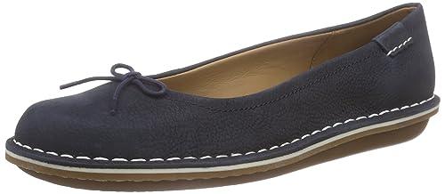 Clarks Tustin Talulah - Mocasines Mujer, Azul (Navy Leather), 36: Amazon.es: Zapatos y complementos