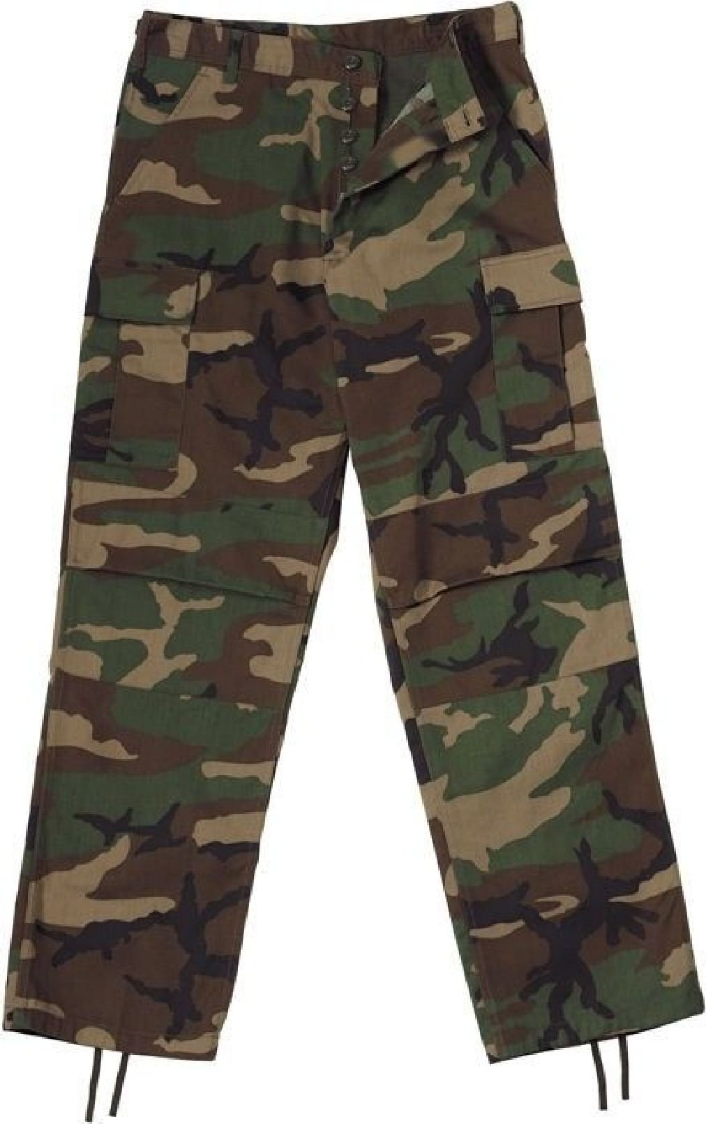 Mens Woodland Camouflage Military BDU Cargo Bottoms Fatigue Trouser Camo Pants by AMYE