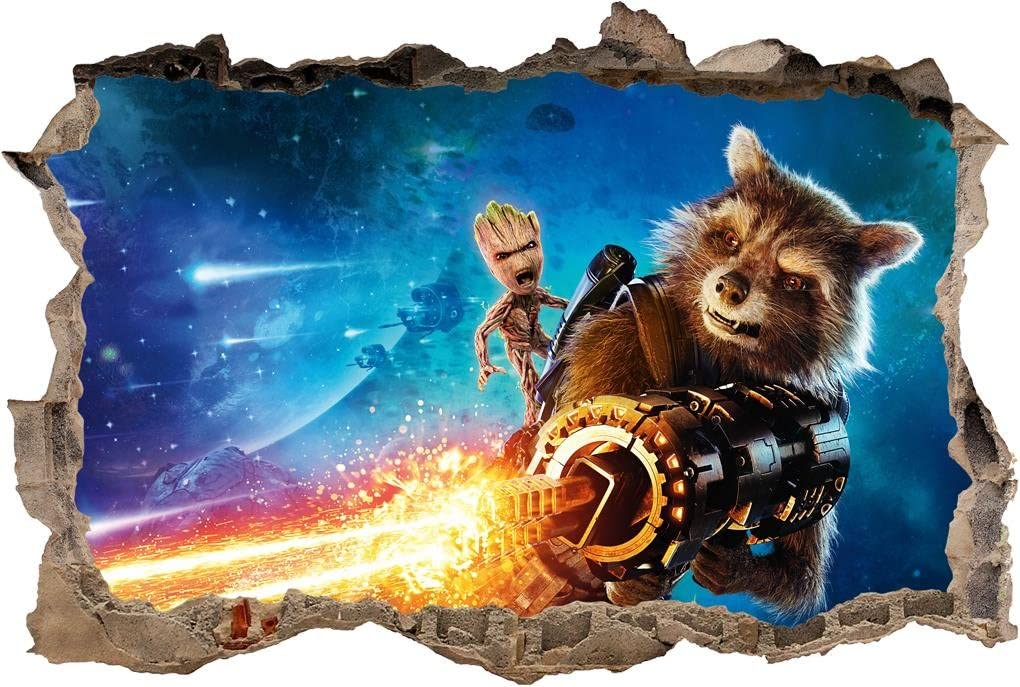 Guardians of The Galaxy 2 3D Smashed Wall Decal