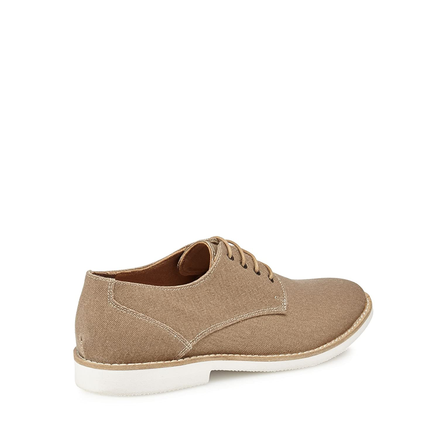 99eda3bfbc8 Red Herring Men Brown Canvas  Margaux  Derby Shoes  Red Herring   Amazon.co.uk  Clothing