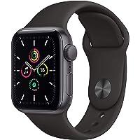Apple Nuevo Watch SE GPS • Caja de Aluminio Gris Espacial de 40 mm • Correa Deportiva Negra - Estándar