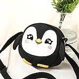 Luggage Penguin Black Girls' Handbags Kids Shoulder Bag Crossbody Purse Mini Cartoon Animal Preschool Messenger Handbag for Children Toddler Baby Girls Leekey