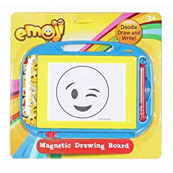 Emoji Small Travel Sized Magnetic Drawing Board With Pen Attached