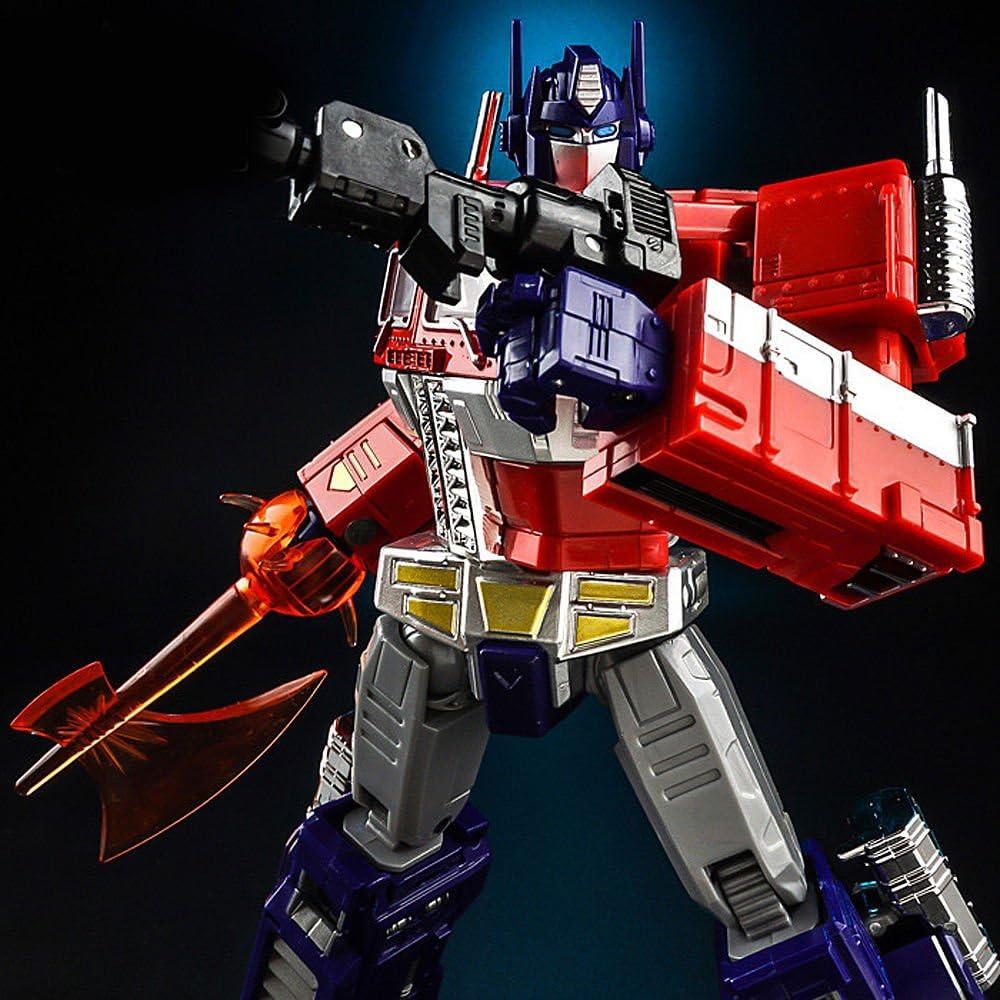 """KBB Transformer G1 Optimus Prime OP ko Mp10 White Metal 8/"""" Action Figure Kid Toy"""
