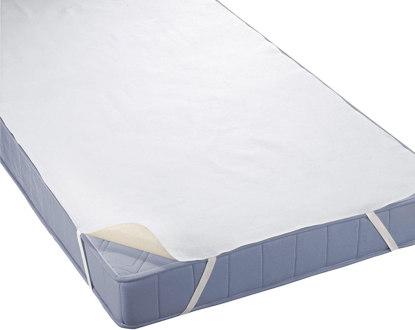 Color Blanco triple capa, SilverCare Protector de Colch/ón Impermeable 70 x 140 cm Biberna 809720-001-140 Molton