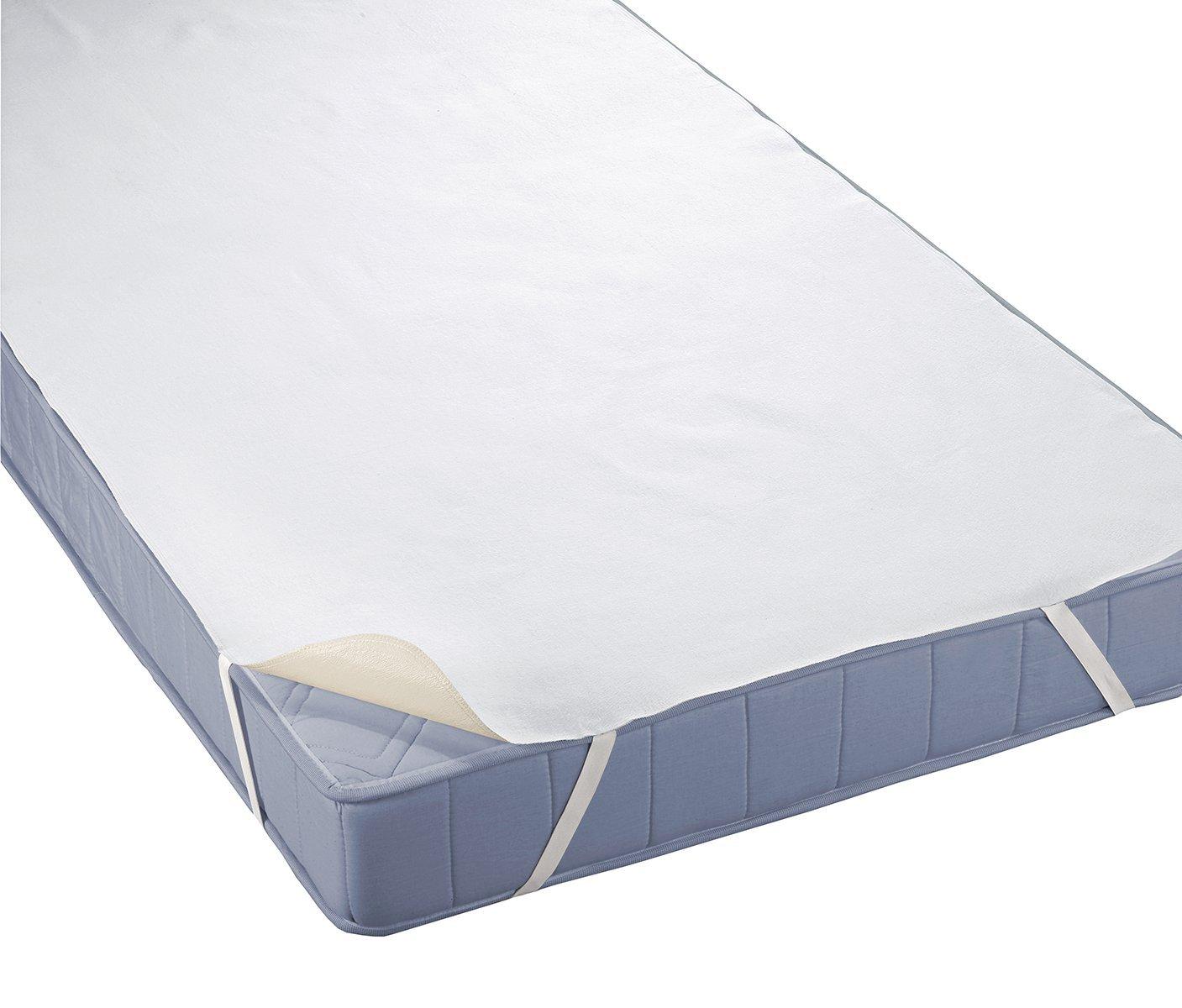 Biberna 809721-001-143 Impermeable Protector//colch/ón Rizo Reversible 3-Capa con Silver 90 x 190 cm Blanco Care