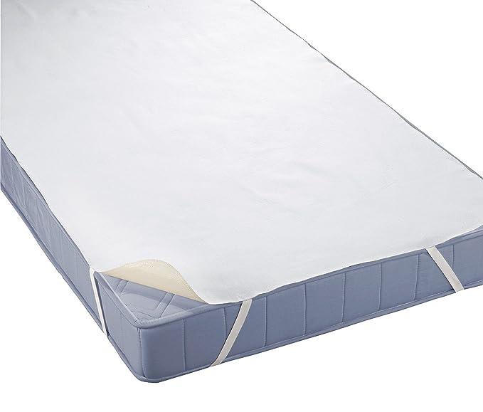 """biberna Sleep & Protect"""" Molton-Matratzenauflage, Matratzenschoner aus 100% Baumwolle, Schonbezug, Inkontinenzunterlage, Topp"""