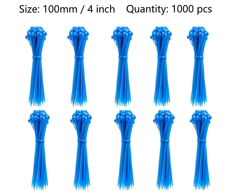 Gemony bridas para cables 500 Pcs Azul Casa Oficina Garaje Taller in tama/ño 100mm,150mm,200mm,250mm,300mm Cada tama/ño 100 Pcs ZD-009