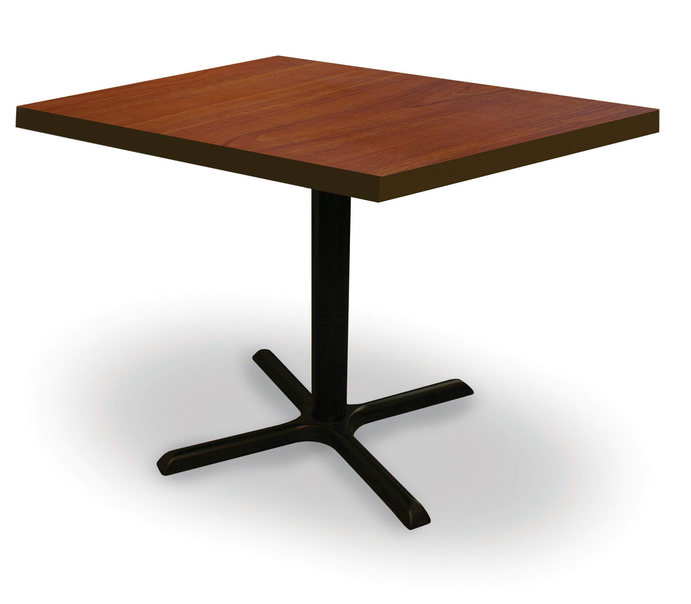 Square Conference, Break Room, Multipurpose Table 36''D x 36''W x 29''H - Collectors Cherry Laminate/Black Finish by MAMOF
