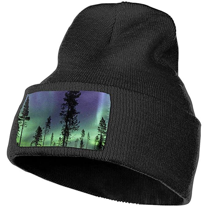 a498d7a785c XZX2018 Northern Lights Cuffed Plain Baggy Winter Skull Knit Hat Cap  Slouchy Beanie Hat for Men