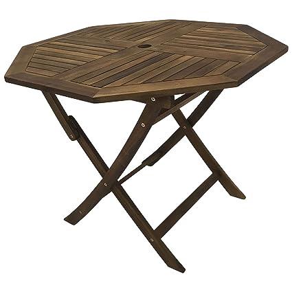 SAM® Gartentisch klappbar Beistelltisch Balkontisch Holz Tisch Terrasse