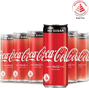 Coca-Cola No Sugar, 320ml (Pack of 12)
