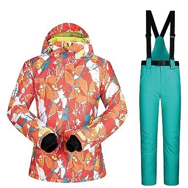 Joey Trajes de esquí para Mujeres de Invierno a Prueba de ...