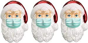 Shuang 2020 Christmas Ornaments, Santa Claus Christmas Decorations Wearing Masks, Unique Santa Claus Pendants on The Christmas Tree, Faceless Santa Claus Decorations, Creative (3pcs)