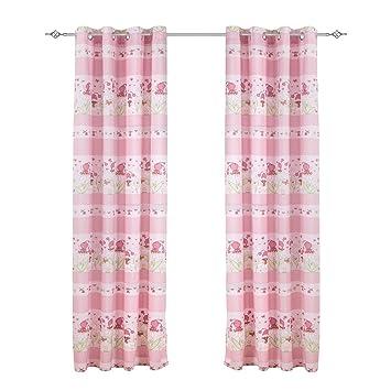 x cortinas infantiles para ventanas de dormitorios de nios nias decoracin para saln hogar