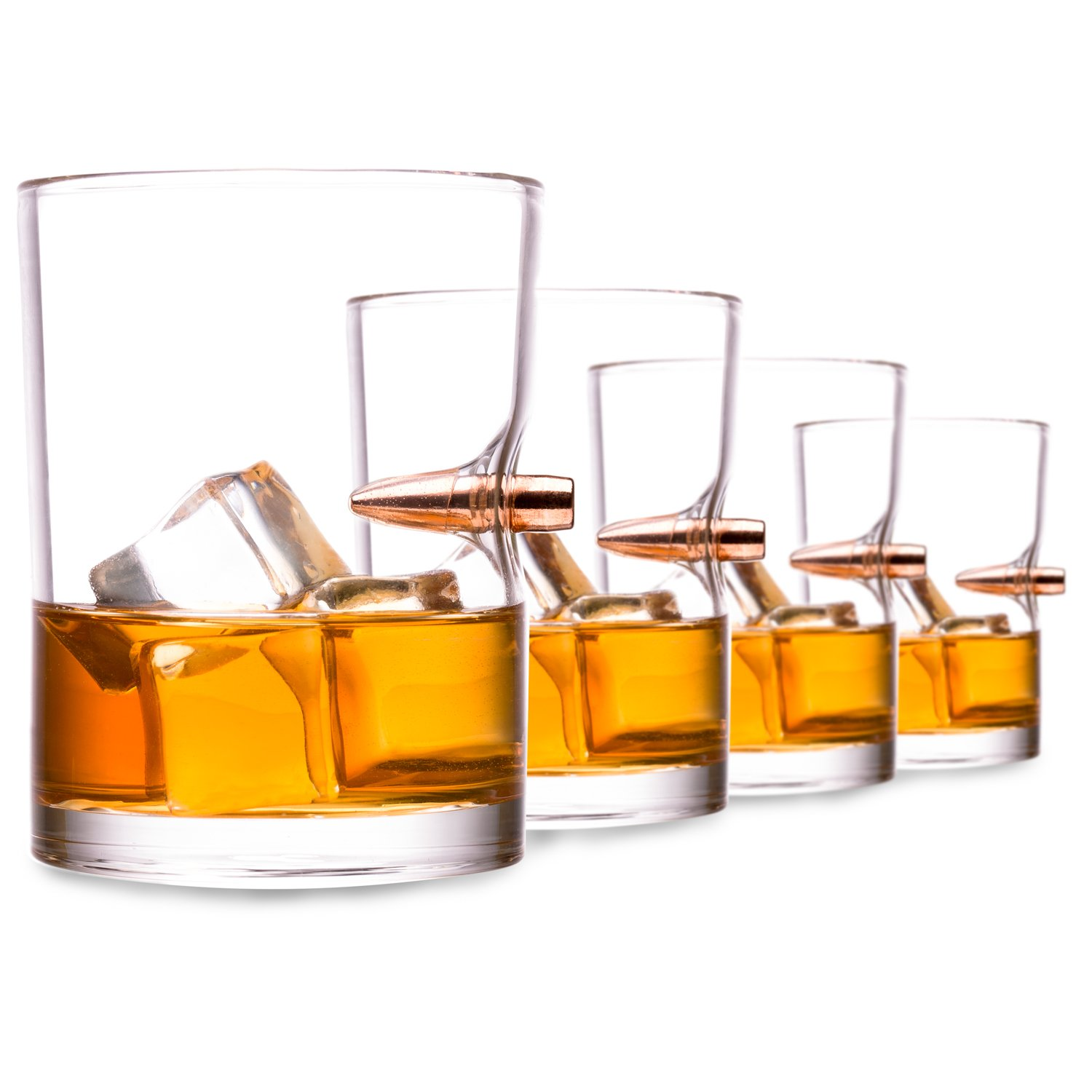 Lucky Shot .308 RealBullet HandmadeWhiskey Glass - Set of 4 by Lucky Shot (Image #2)