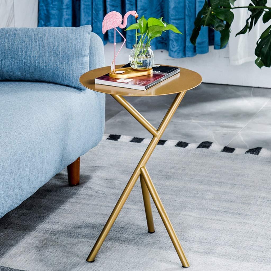 Amazon.com: Mesa de café simple de hierro forjado mesa de ...