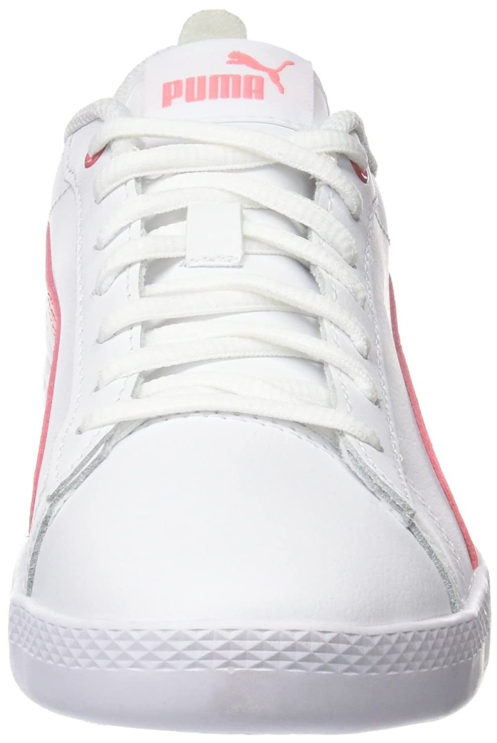 5a7f0279ed11 Puma Women s Smash WNS V2 L White-Shell Pin and Pink Leather Sneakers-4  UK India (37 EU) (36520805)  Buy Online at Low Prices in India - Amazon.in